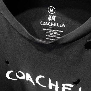 H&M Tops - Coachella X H&M Destroyed Festival Tee